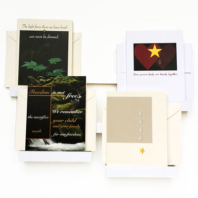 Gold Star Mixed Pack - military sympathy greeting cards - 2MyHero