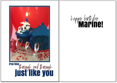 USMC Birthday - True blue military birthday greeting card - 2MyHero