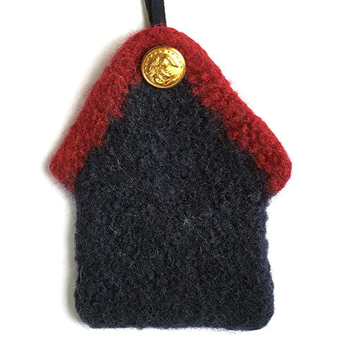Ornament - USMC, 100% wool felted house with button - 2MyHero