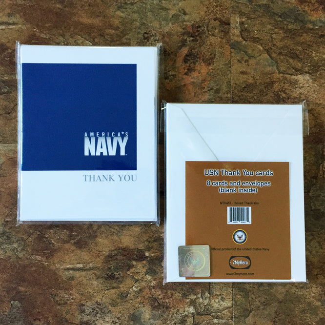 Usn Eight Pack Thank You Cards Blank Inside Wholesale 2myhero
