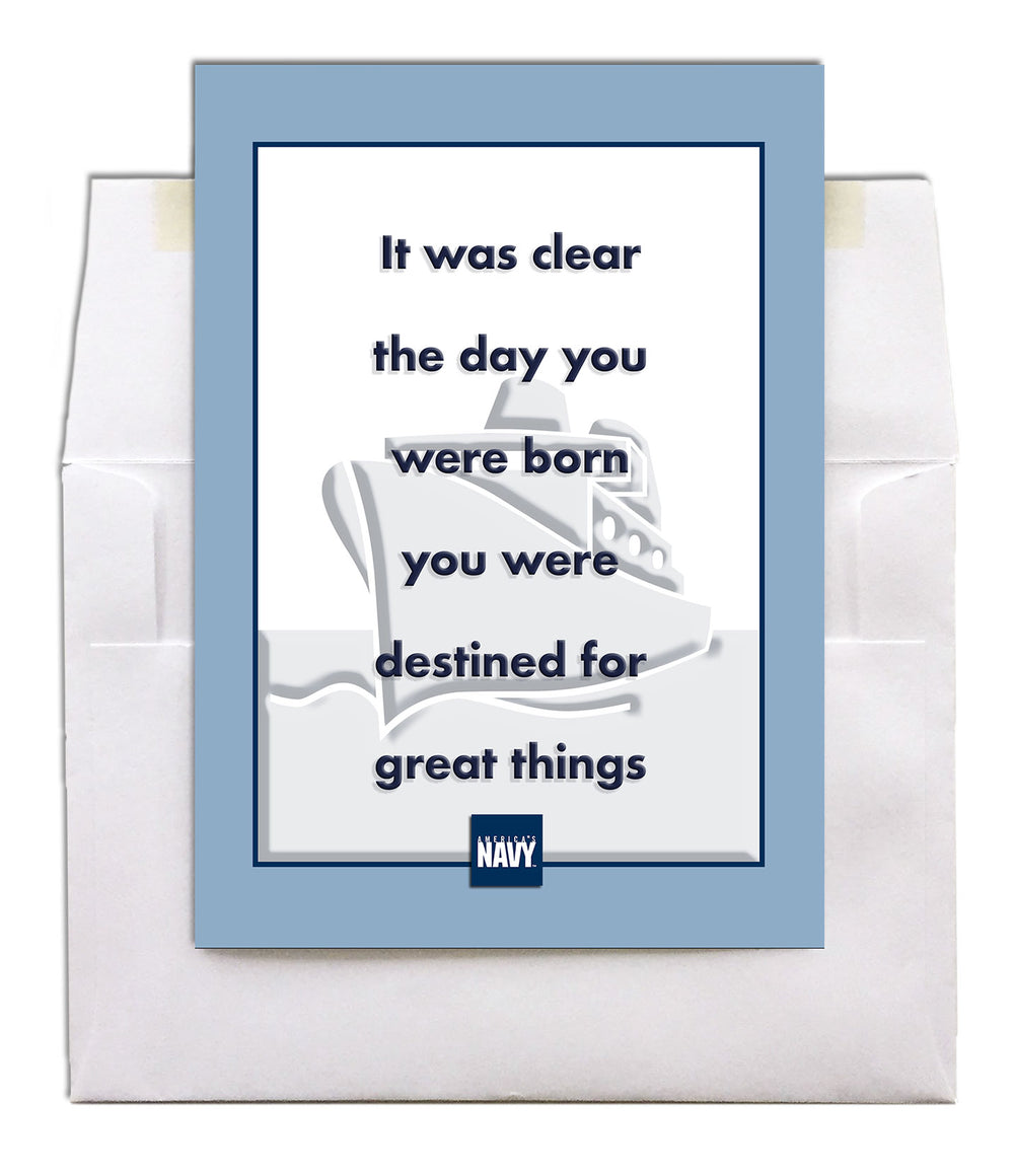 USN military encouragement greeting card - Destined - 2MyHero