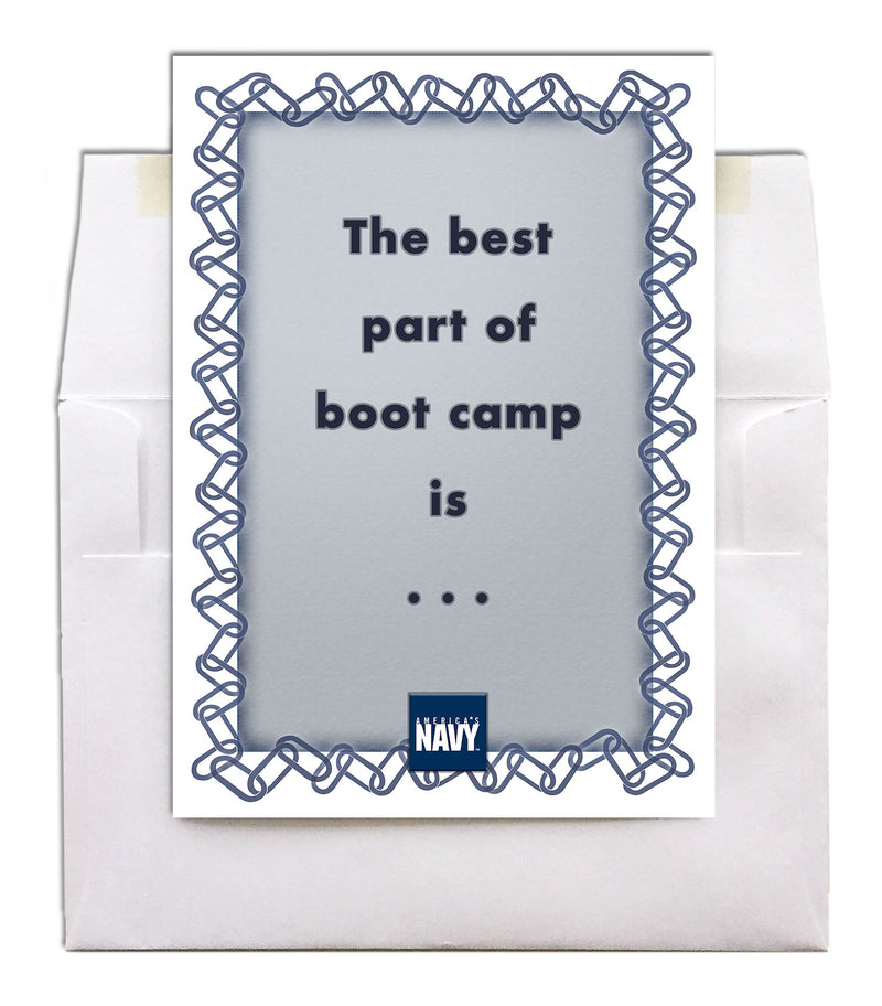 USN military encouragement greeting card - Best part of boot camp - 2MyHero