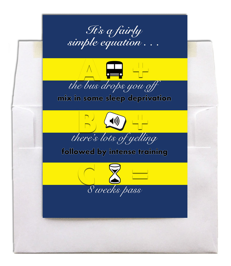 USN military encouragement greeting card - Equation - 2MyHero