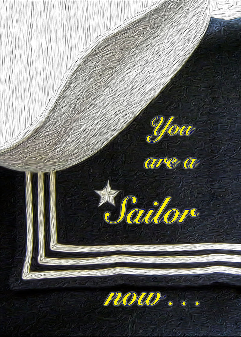 USN military graduation greeting card - A Sailor now - 2MyHero