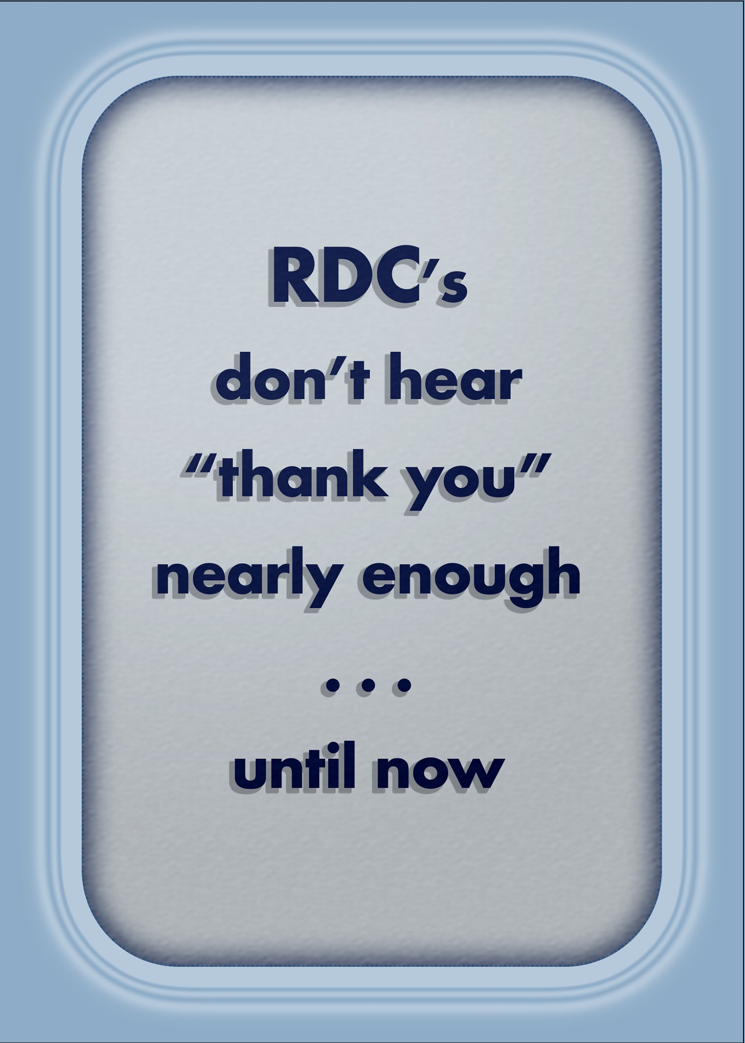 USN military RDC thank you greeting card - many thanks - 2MyHero
