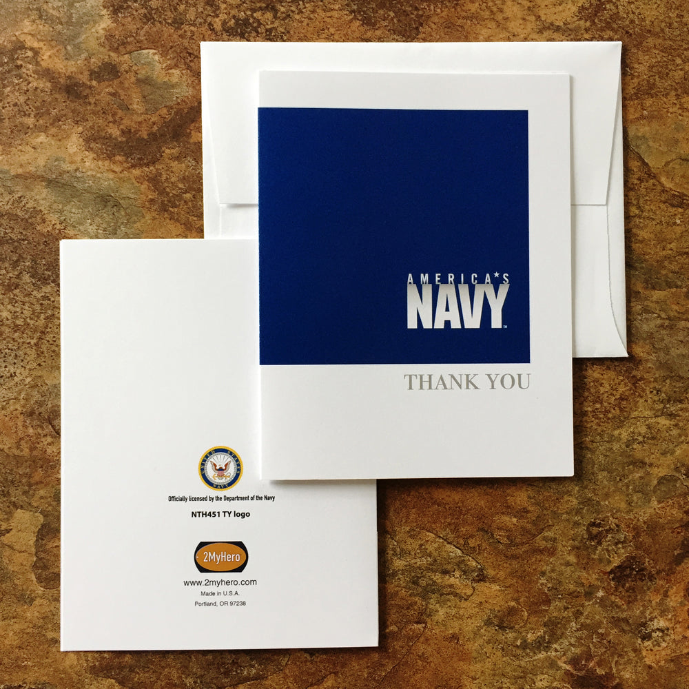 USN Eight pack - Thank you cards (blank inside) - wholesale - 2MyHero