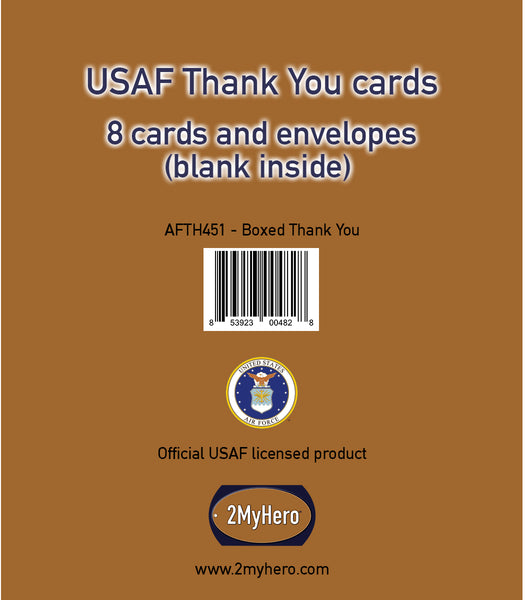 USAF Eight pack - Thank you cards (blank inside)