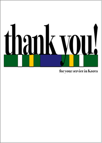 2MyHero military greeting card for Veteran's Day - Say what you mean! Korea (front)