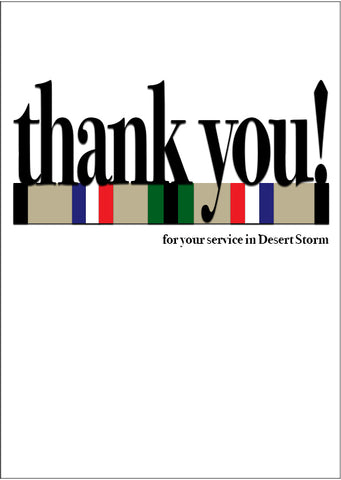 2MyHero military greeting card for Veteran's Day - Say what you mean! Gulf War (front)