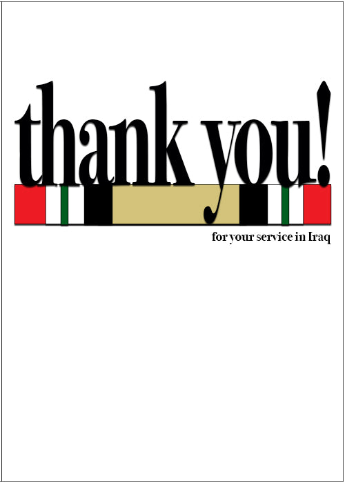 Veteran's Day military greeting card - Say what you mean! - Iraq - wholesale - 2MyHero