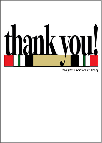 2MyHero military greeting card for Veteran's Day - Say what you mean! Iraq (front)