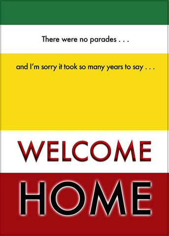 2MyHero military greeting card for Veteran's Day - Say what you mean! Vietnam parades (front)