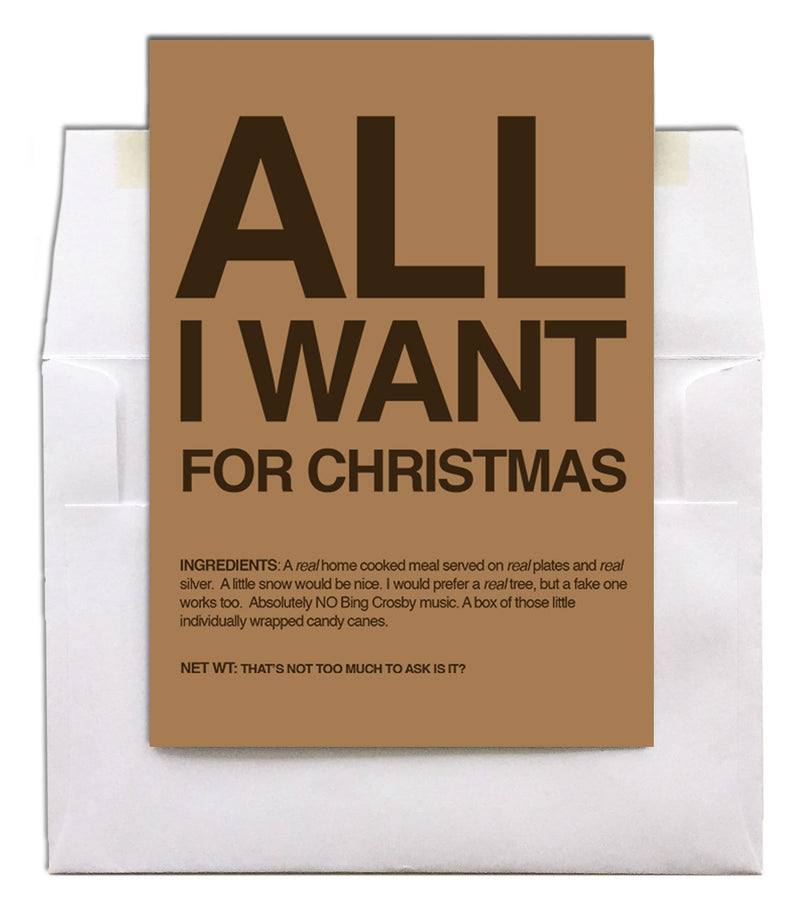 Military Christmas greeting card - All I Want - 2MyHero