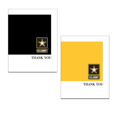 US Army Thank You Notecards (black front - blank inside) - wholesale - 2MyHero