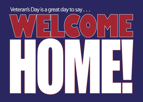 2MyHero Veteran's Day military greeting card - Great Day (front)