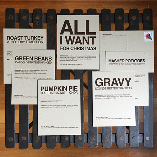 Christmas humorous military postcard set of 6 - MRE Meal Assortment - wholesale - 2MyHero