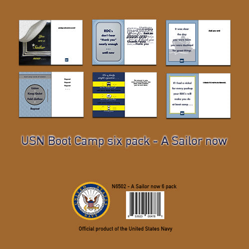2MyHero USN Six pack - A Sailor now - mixed pack of six military greeting cards