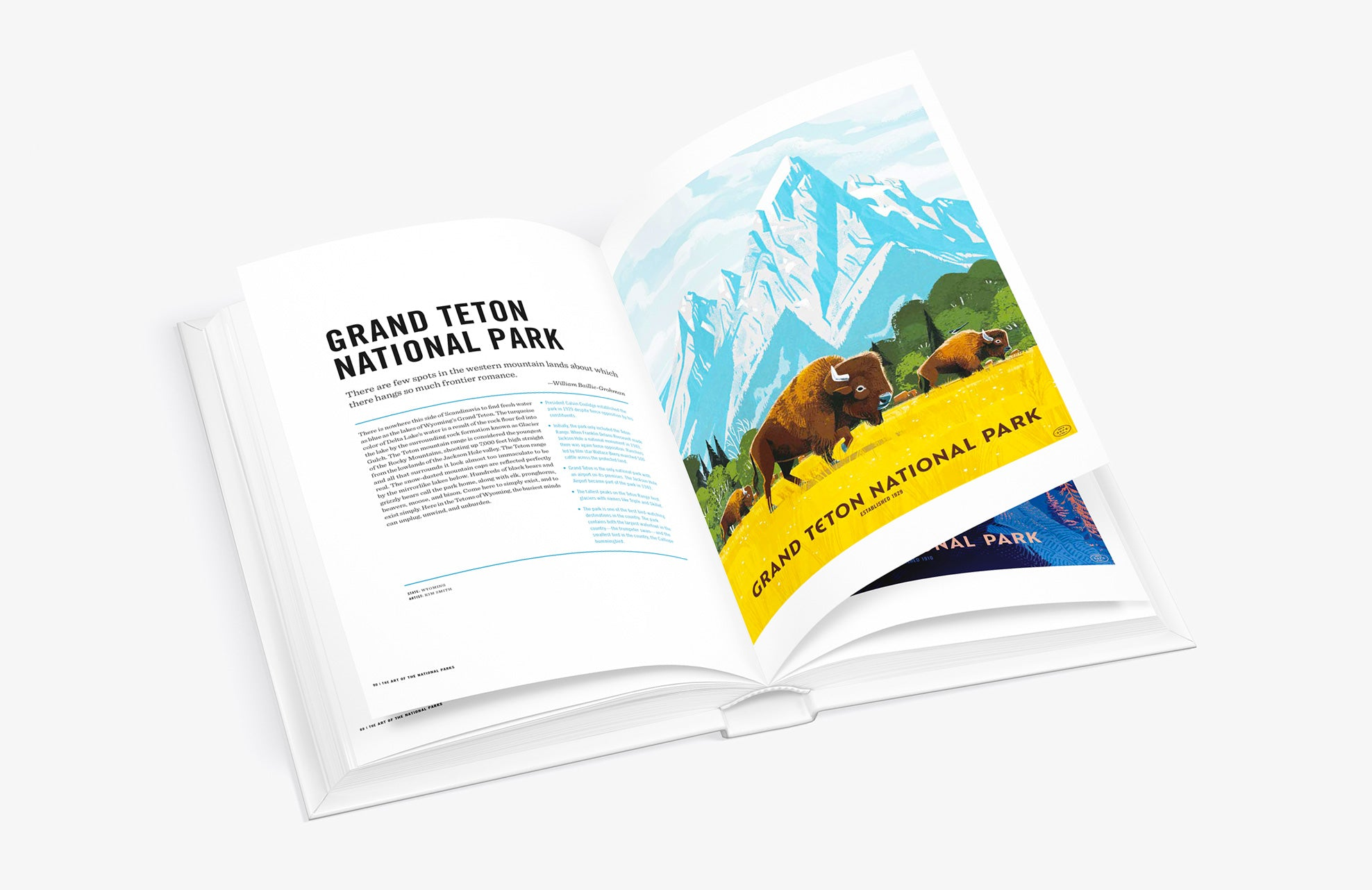 Art of the National Parks by Fifty-Nine Parks book Grand Teton