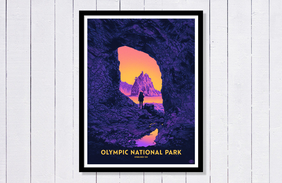 Olympic National Park Poster (Large)