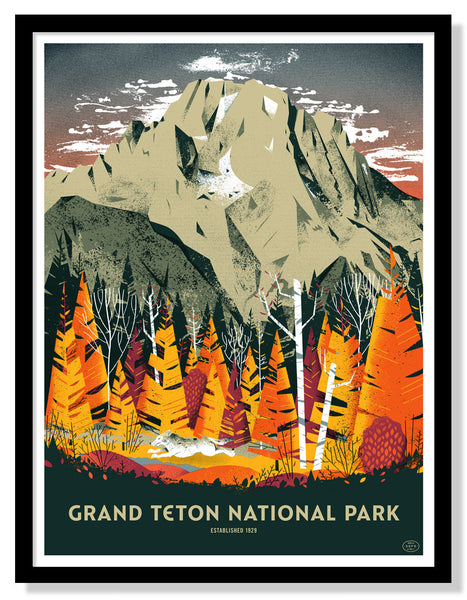 Grand Teton National Park Poster (Large Timed Edition)