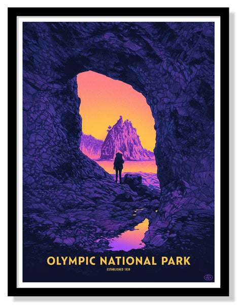 Olympic National Park Poster (Variant)