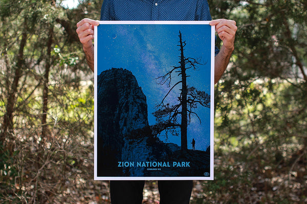 Zion National Park Poster (Variant)