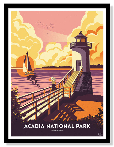 Acadia National Park Poster (Variant)