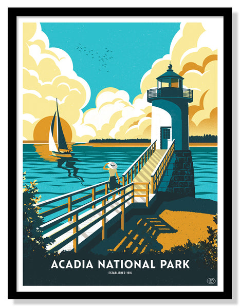 Acadia National Park Poster (Large Timed Edition)