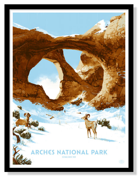 Arches National Park Poster (Large Timed Edition)