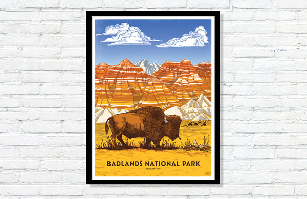Badlands National Park Poster