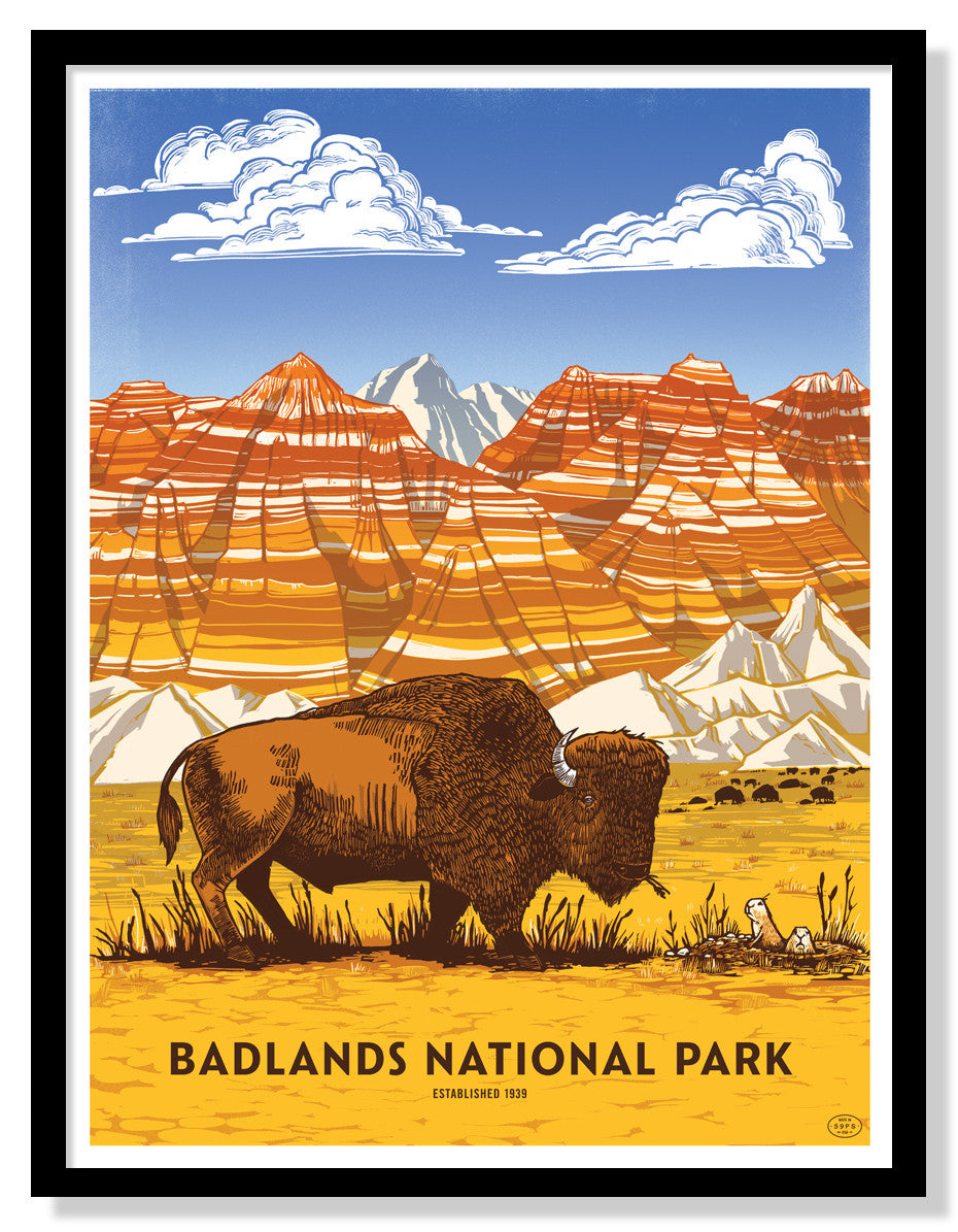 Badlands National Park Poster (Large Timed Edition)