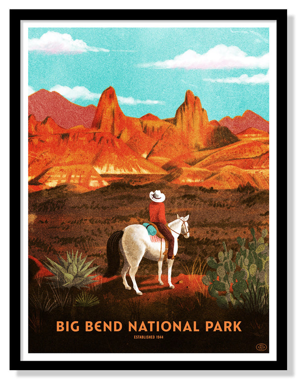 Big Bend National Park Poster (Large Timed Edition)