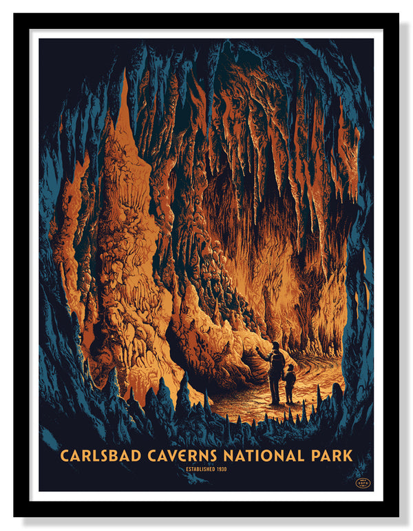 Carlsbad Caverns National Park Poster (Large Timed Edition)