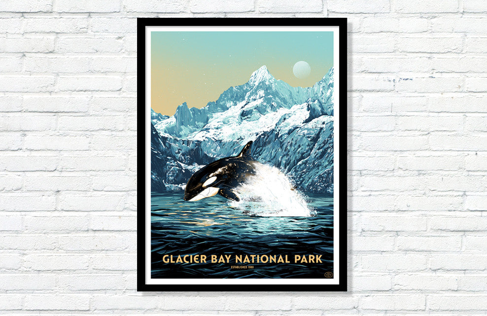 Glacier Bay National Park Poster (Large Timed Edition)