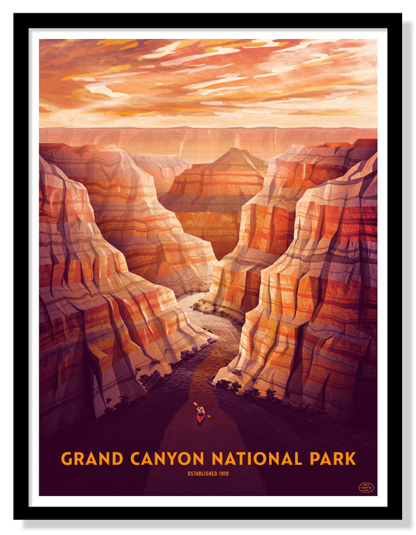 Grand Canyon National Park Poster (Large Timed Edition)