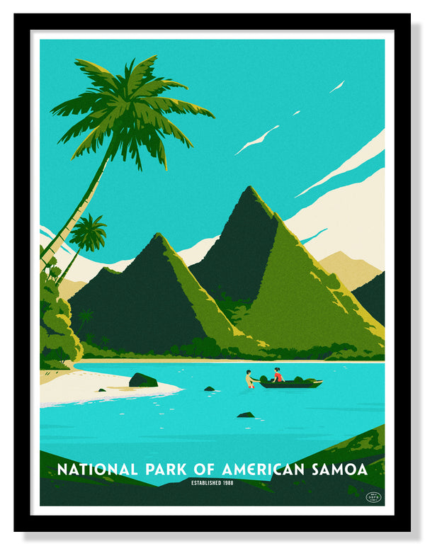 National Park of American Samoa Poster (Large Timed Edition)