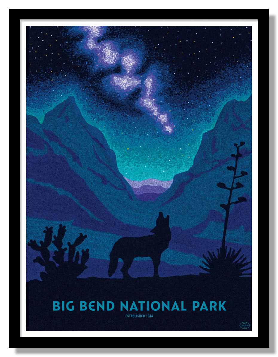 Big Bend National Park Poster (Night Sky)