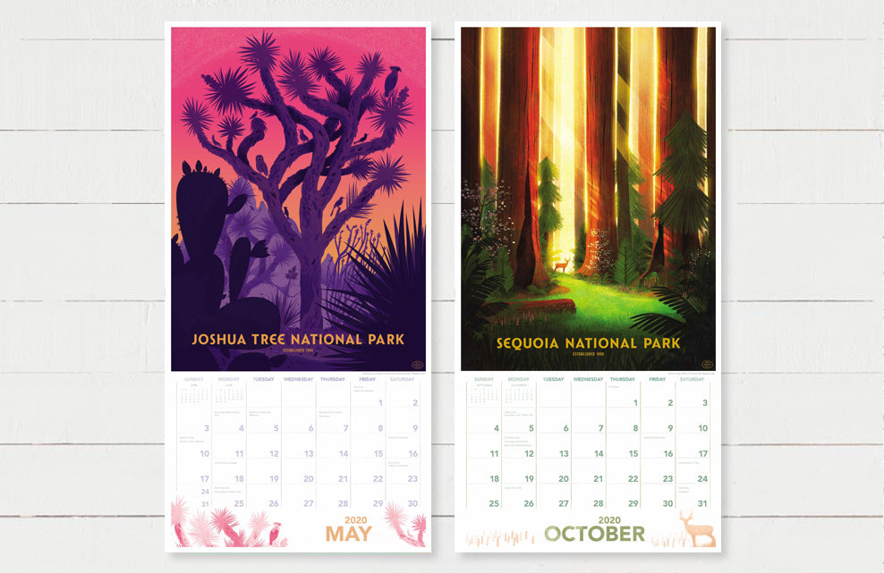Fifty-Nine Parks Calendar (2020)