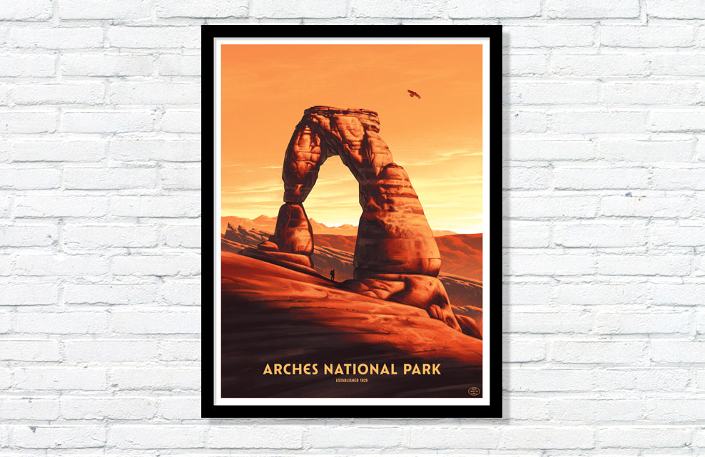Arches National Park Poster (Delicate Arch)