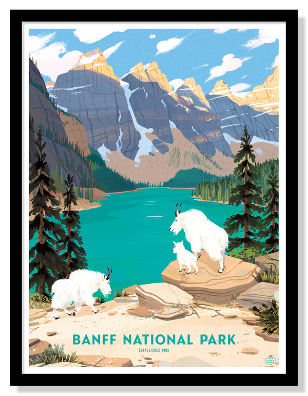 Banff National Park Poster (Large Timed Edition)