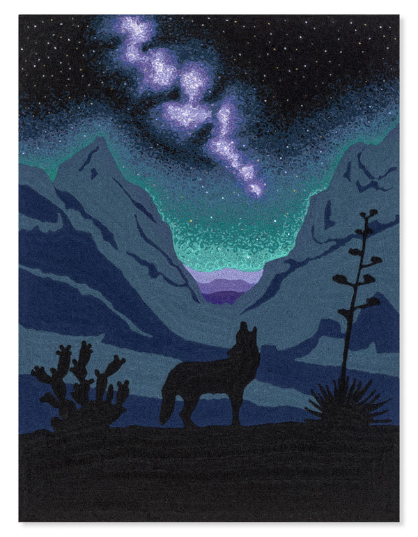 Big Bend National Park (Original Fabric Piece - Night Sky)