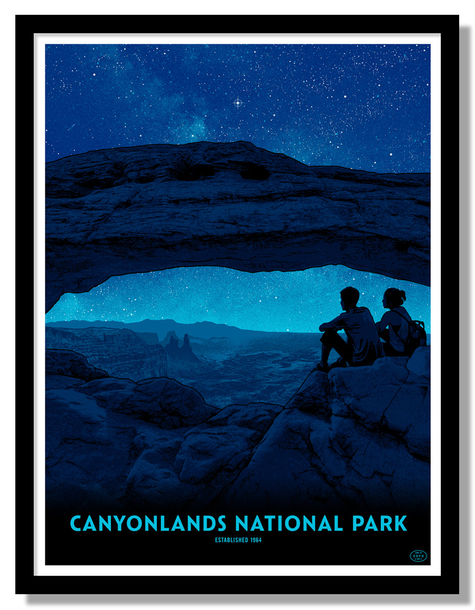 Canyonlands National Park Poster (Night Sky)