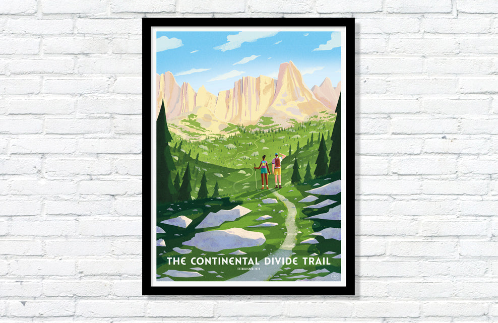 Continental Divide Trail Poster