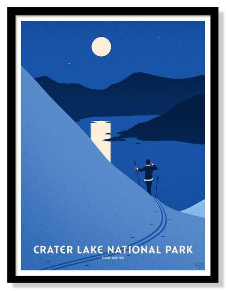 Crater Lake National Park Poster (Large Timed Edition)