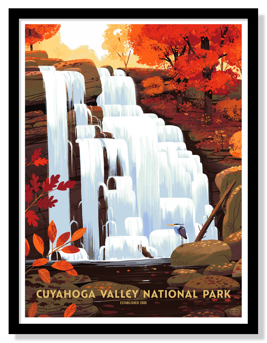 Geometric Ombre Cuyahoga Poster National Park Prints Cuyahoga Valley National Park Poster