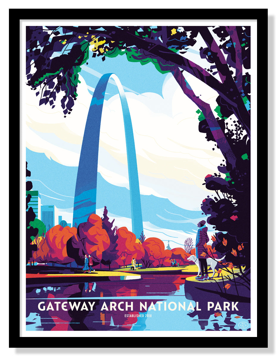 Gateway Arch National Park Poster (Large Timed Edition)