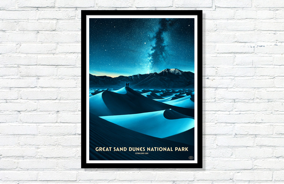 Great Sand Dunes National Park Poster (Night Sky)