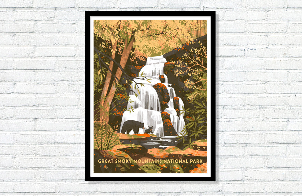 Great Smoky Mountains National Park Poster (Large Timed Edition)