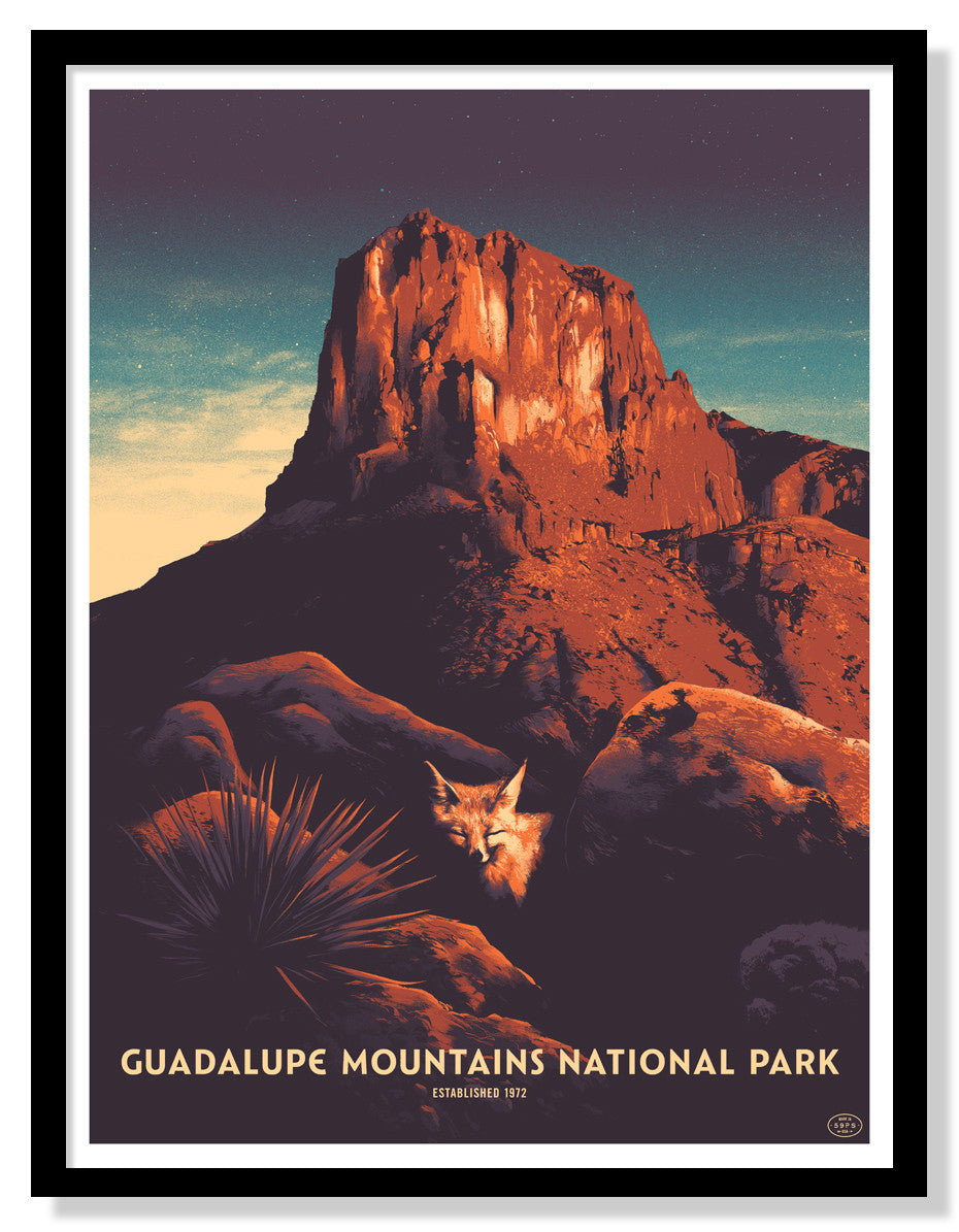 Guadalupe Mountains National Park Poster (Large Timed Edition)