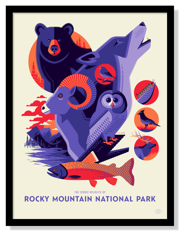 Iconic Wildlife of Rocky Mountain National Park Poster